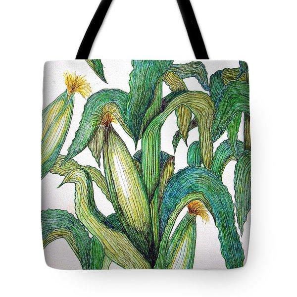 Corn And Stalk Tote Bag
