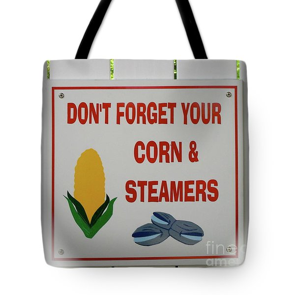 Corn And Steamers Tote Bag by Beth Saffer