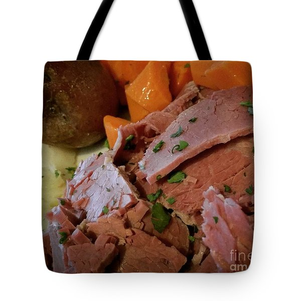 Tote Bag featuring the photograph Corn Beef by Raymond Earley