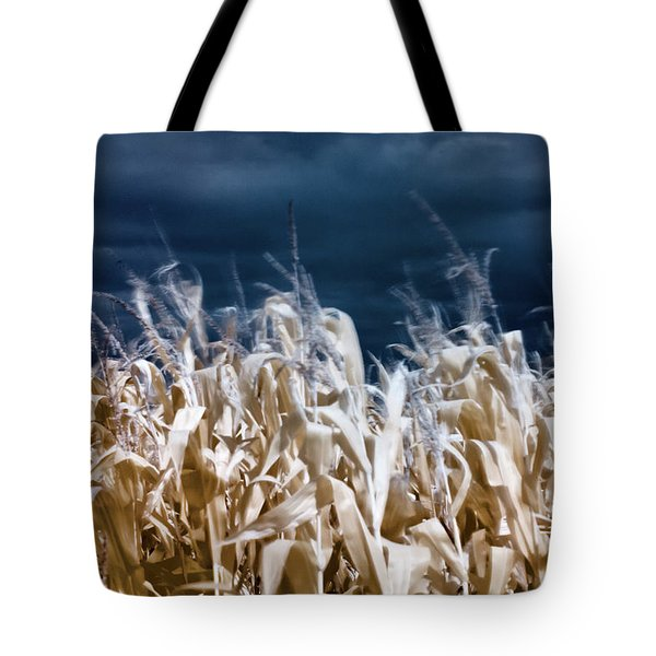 Tote Bag featuring the photograph Corn Field by Helga Novelli