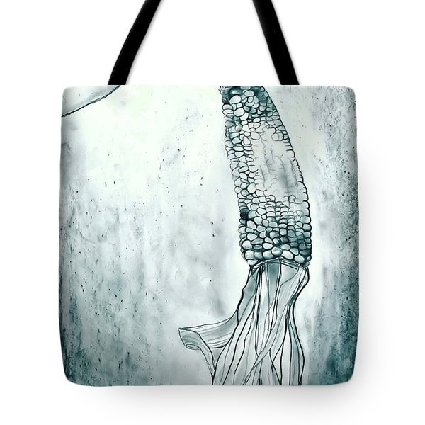 Corn In Space Tote Bag by Michelle Calkins