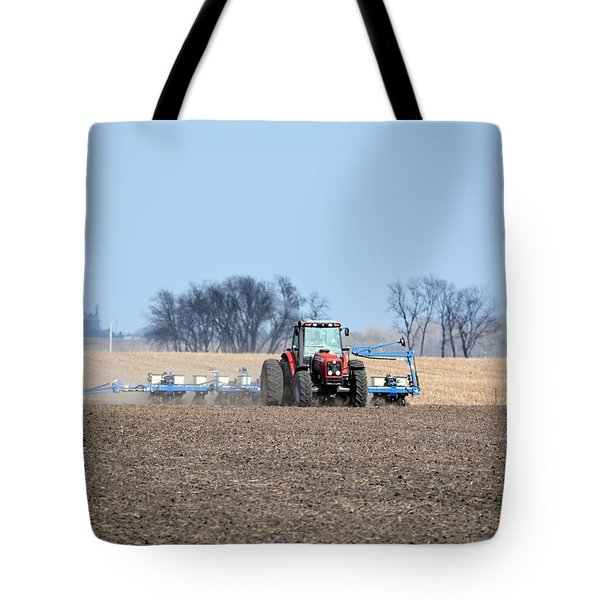 Corn Planting Tote Bag by Bonfire Photography