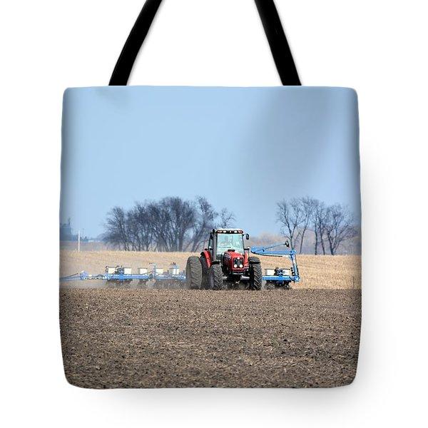 Corn Planting Tote Bag