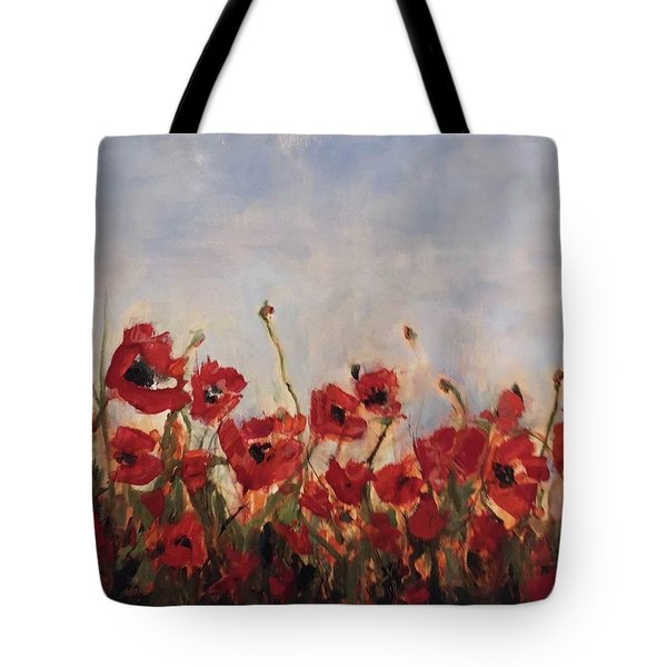 Corn Poppies In Remembrance Tote Bag