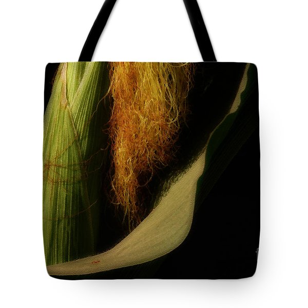 Corn Silk Tote Bag by Linda Shafer