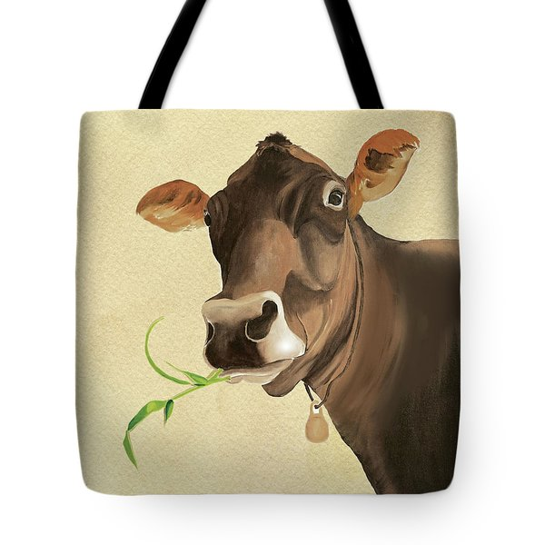 Tote Bag featuring the painting Corneila by Anne Beverley-Stamps