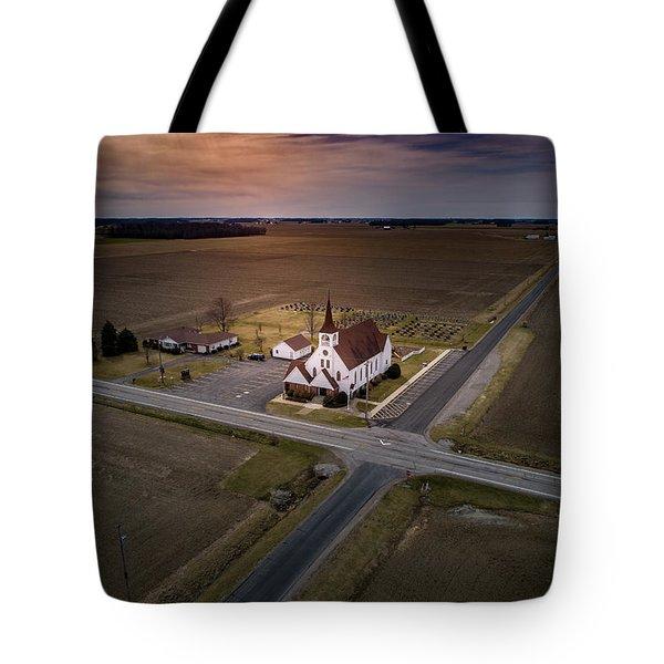 Corner Church Tote Bag