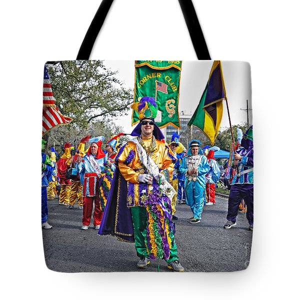 Corner Club 3 -mardi Gras New Orleans Tote Bag by Kathleen K Parker