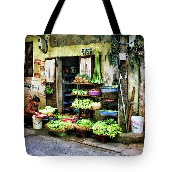 Corner Fresh Veggies Vietnam  Tote Bag