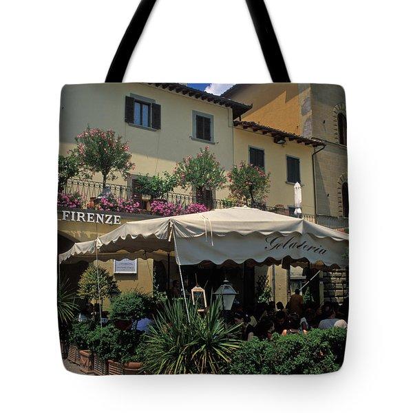 Corner Gelateria Tote Bag by Kathy Yates