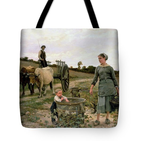 Corner Of A Vineyard Tote Bag by Edouard Debat Ponsan