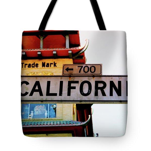 Corner Of California- Art By Linda Woods Tote Bag