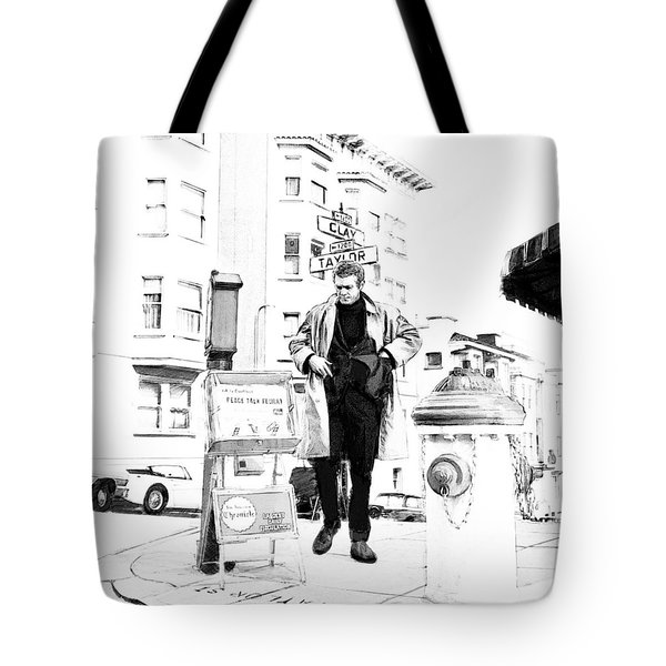 Corner Of Clay And Taylor Tote Bag by Kurt Ramschissel