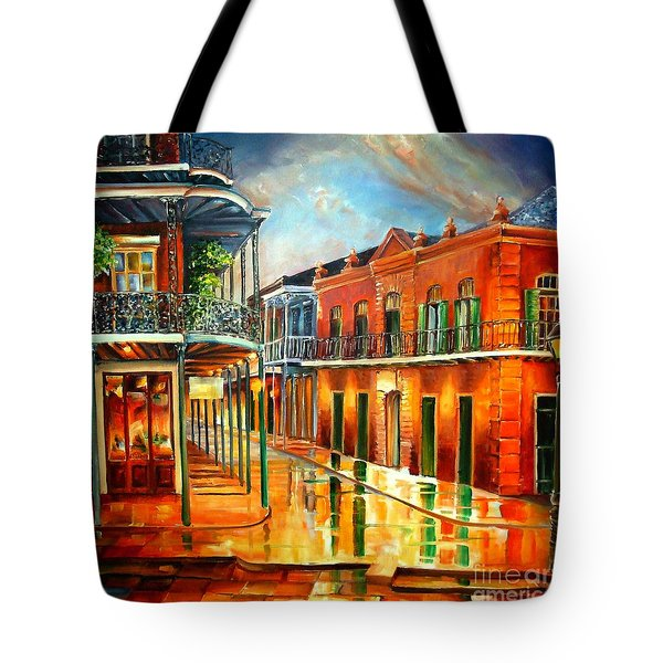 Corner Of Jackson Square Tote Bag by Diane Millsap