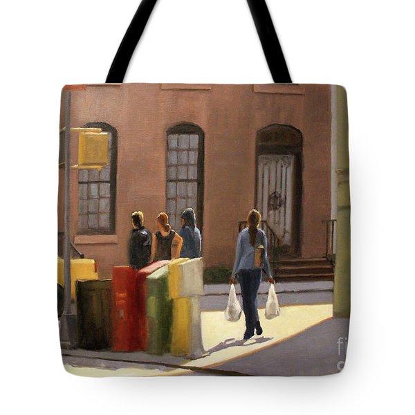 Corner Stop Tote Bag