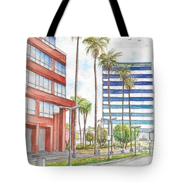 Corner Wilshire Blvd. And Curson, Miracle Mile, Los Angeles, Ca Tote Bag