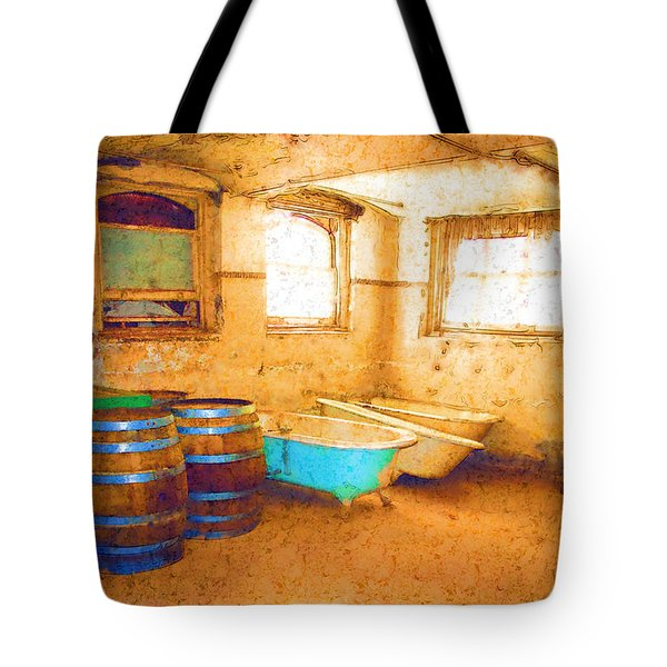 Tote Bag featuring the digital art Cornered by Holly Ethan