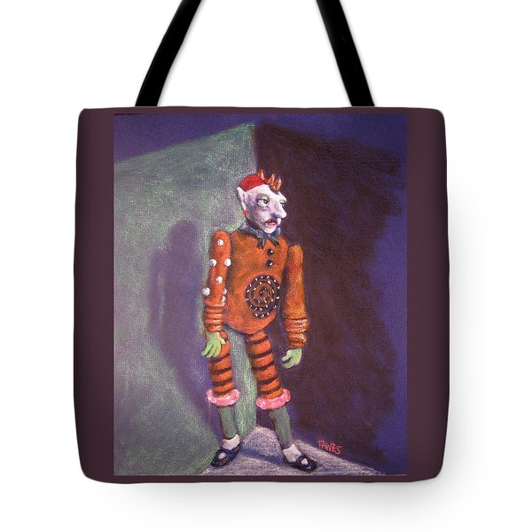 Cornered Marionette Strings Not Included Tote Bag by Dennis Tawes