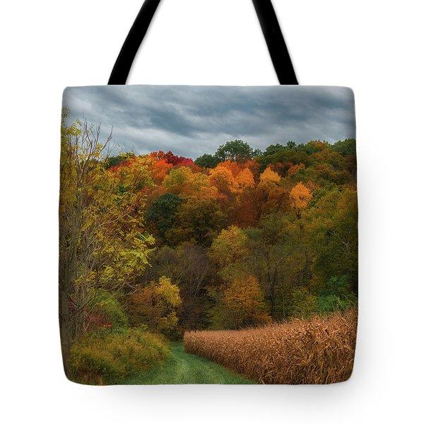 Cornfield In Fall  Tote Bag