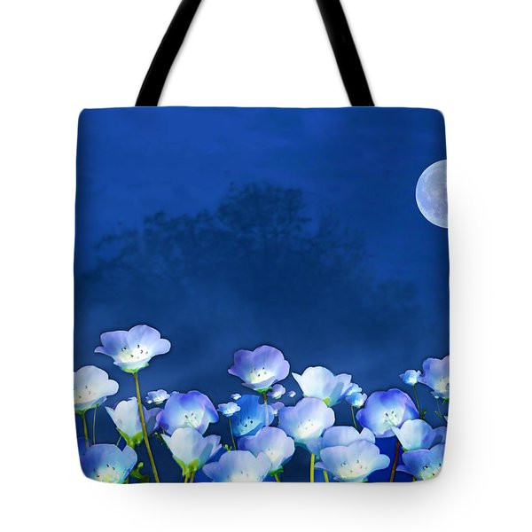 Cornflowers In The Moonlight Tote Bag