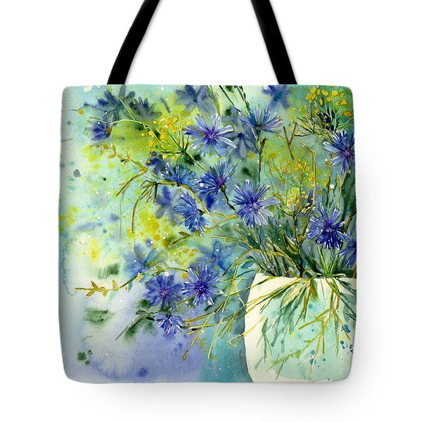 Cornflowers Symphony Tote Bag