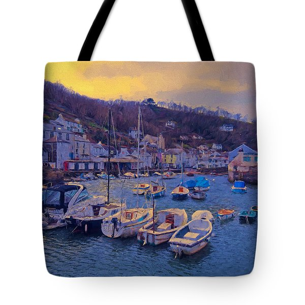 Cornish Fishing Village Tote Bag