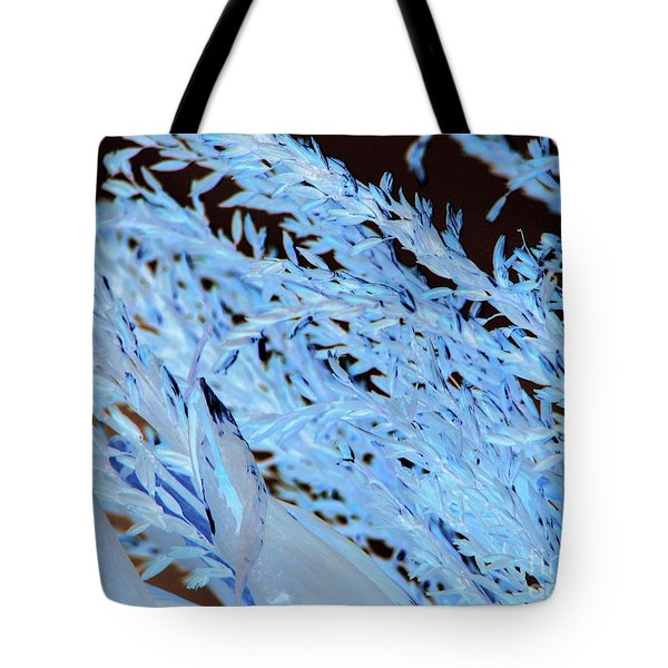 Tote Bag featuring the photograph Cornstalk Darklight by Roxy Riou