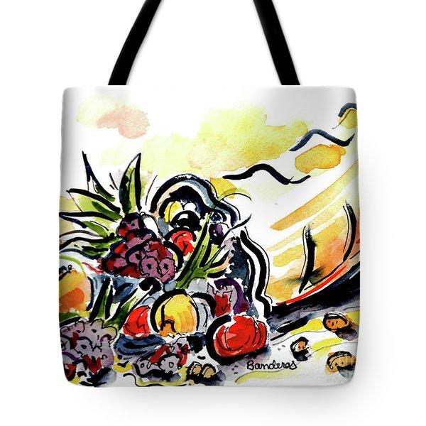 Cornucopia Tote Bag by Terry Banderas