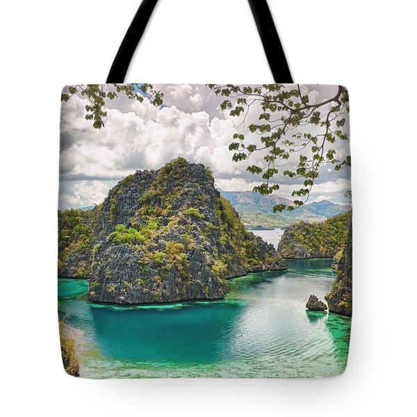 Coron Lagoon Tote Bag by MotHaiBaPhoto Prints