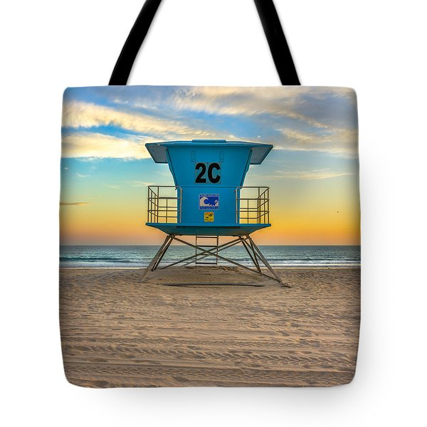 Coronado Beach Lifeguard Tower At Sunset Tote Bag