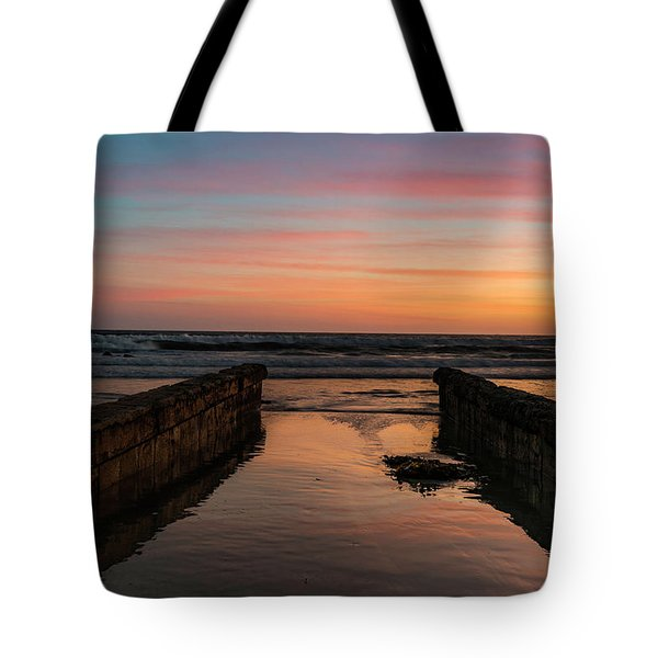Coronado Pier Remains Sunset Tote Bag