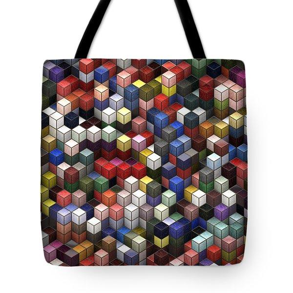 Cororful Cubes 2 Tote Bag