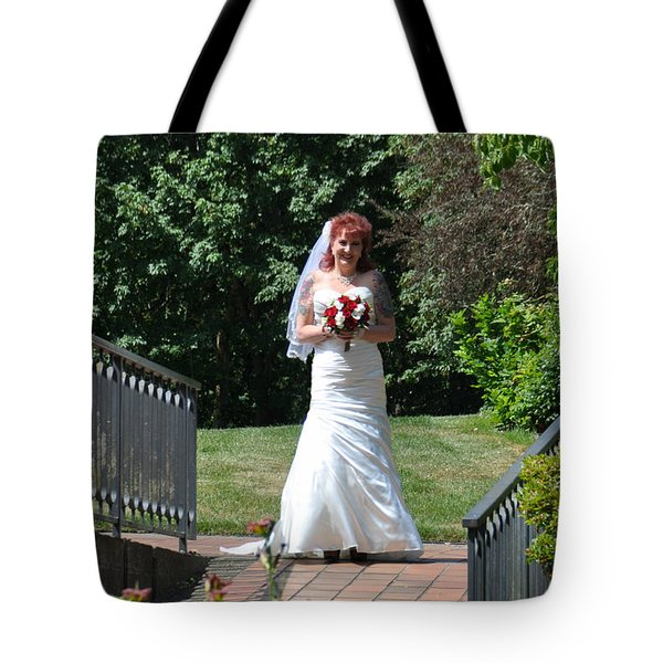 Tote Bag featuring the photograph Corinne by Mindy Bench
