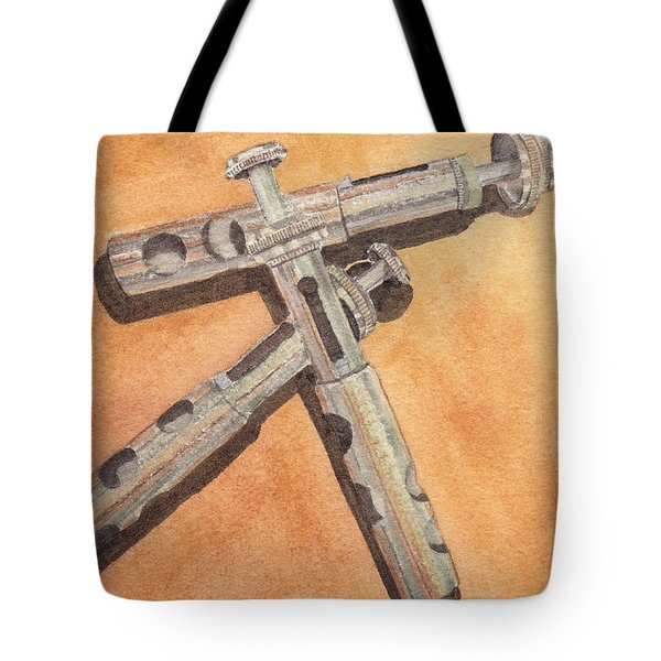 Corroded Trumpet Pistons Tote Bag by Ken Powers