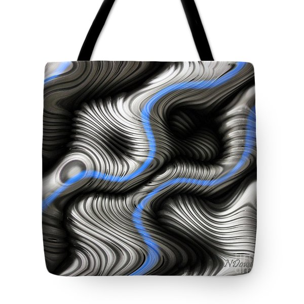 Corrugated Drain Pipe Abstract Tote Bag