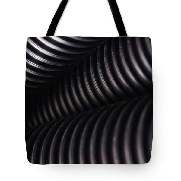 Corrugated Drain Pipe Shadow Tote Bag