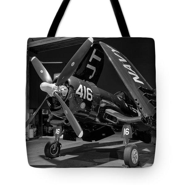 Corsair In The Hangar Tote Bag
