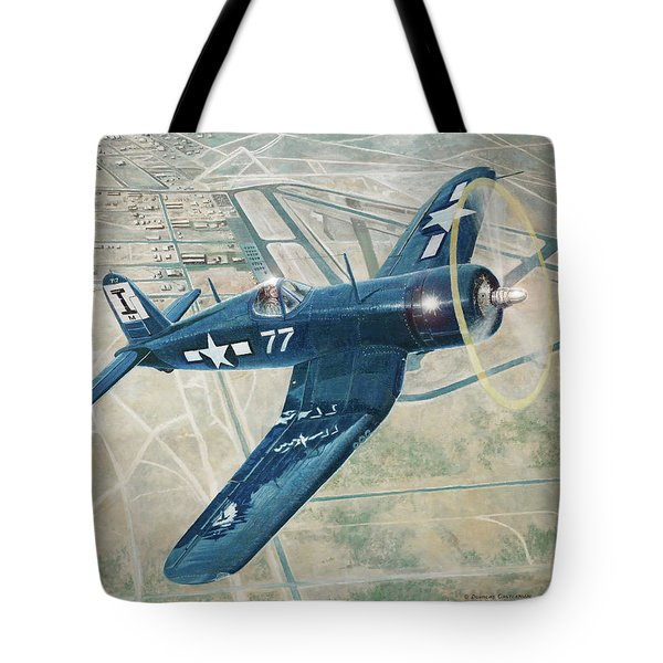 Corsair Over Mojave Tote Bag