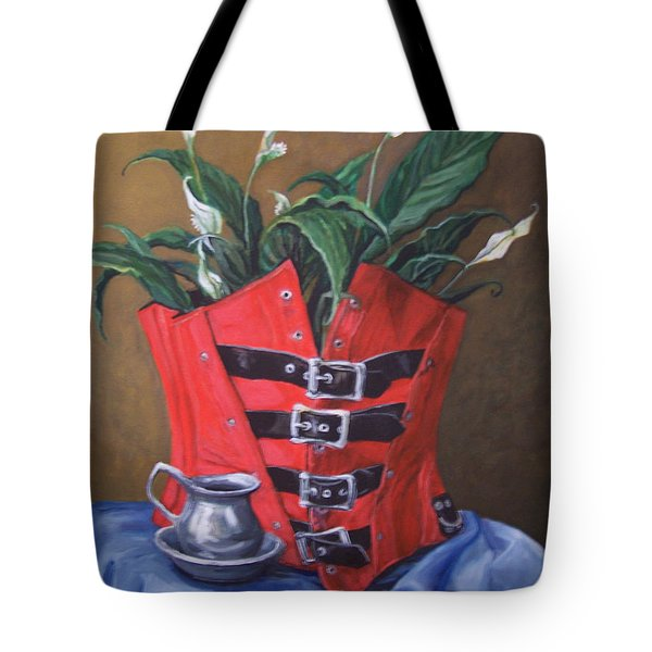 Corset And Calla Lily Tote Bag