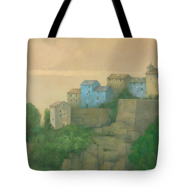 Corsican Hill Top Village Tote Bag