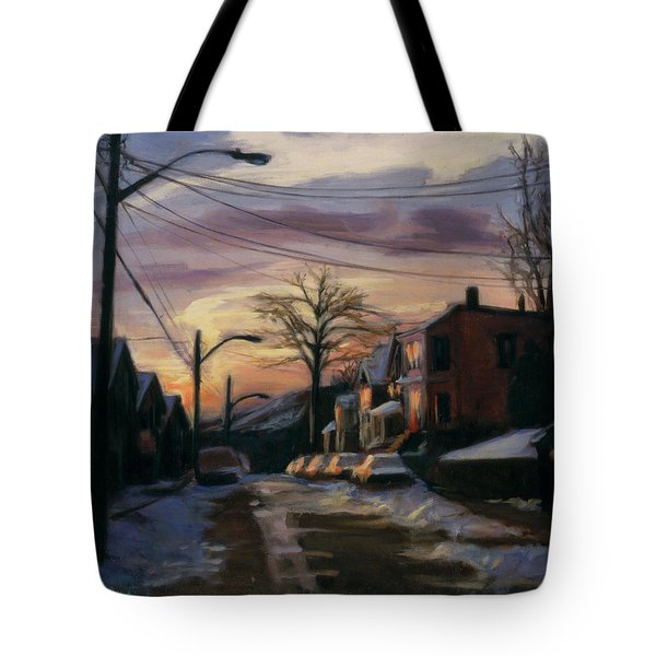 Corson Avenue - February Tote Bag by Sarah Yuster