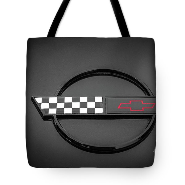 Corvette C4 Hood Ornament Tote Bag