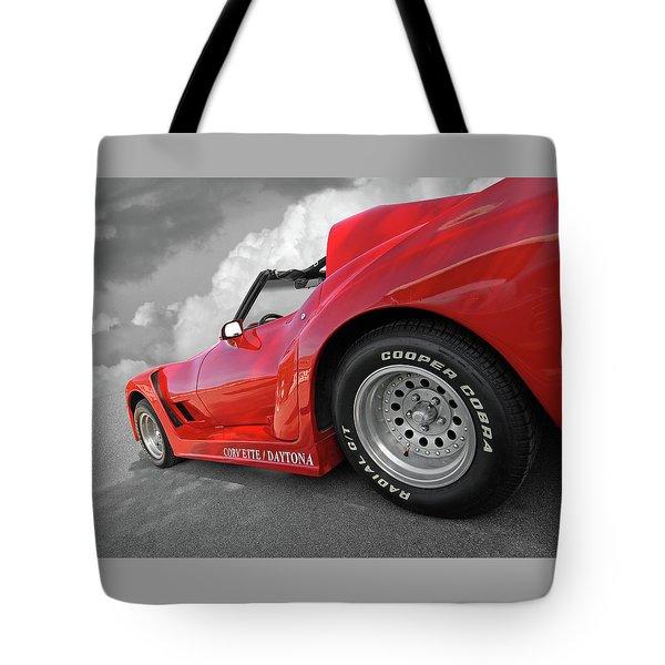 Corvette Daytona Tote Bag by Gill Billington