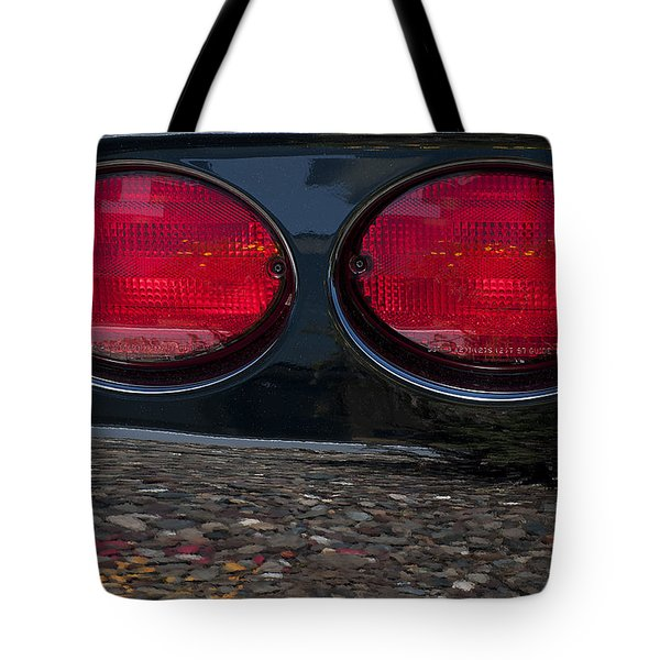 Corvette On The Rocks Tote Bag