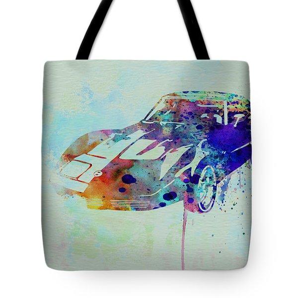 Corvette Watercolor Tote Bag