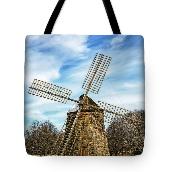 Tote Bag featuring the photograph Corwith Windmill Long Island Ny Cii by Susan Candelario