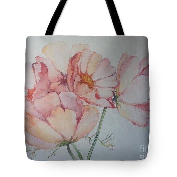 Cosmea Tote Bag by Iya Carson