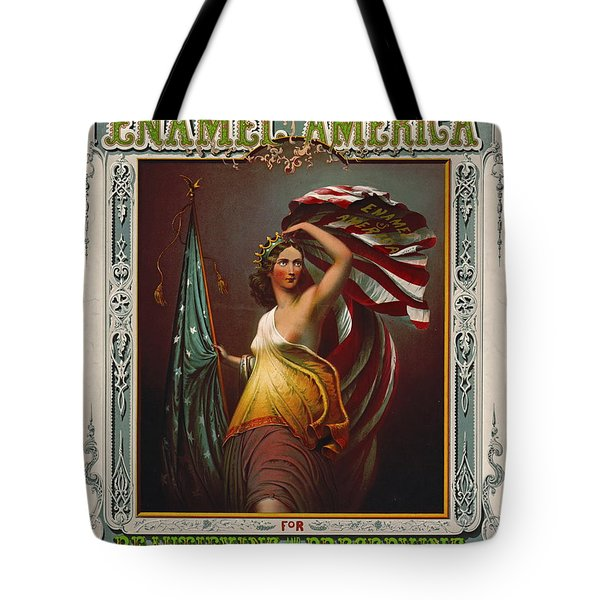 Cosmetics Ad 1866 Tote Bag by Padre Art