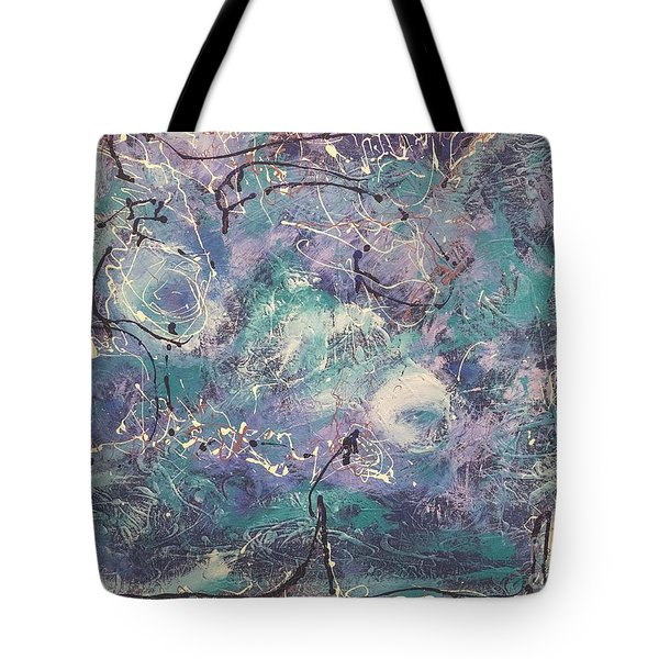 Cosmic Abstract Tote Bag