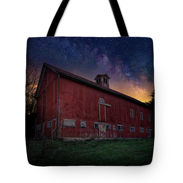 Tote Bag featuring the photograph Cosmic Barn by Bill Wakeley